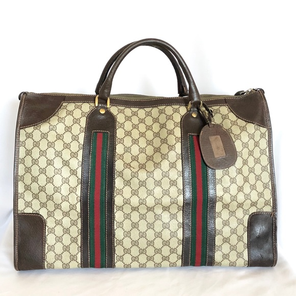 78a7fc53659de Gucci Handbags - GUCCI VINTAGE GG SUPREME TRAVEL BAG